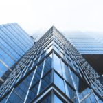 High rise buildings with sharp angles sybmolize a clearly defined corporate brand architecture.